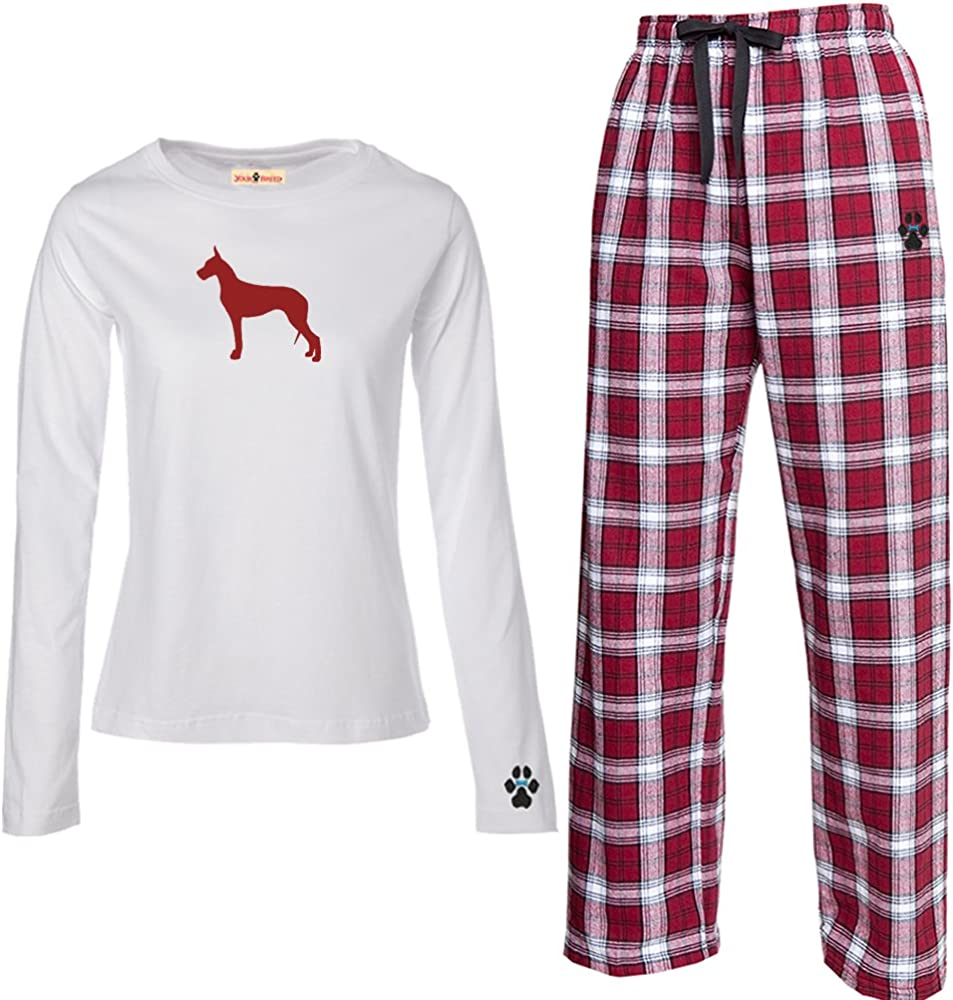 YourBreed Clothing Company Great Dane Mens Flannel Pajamas.