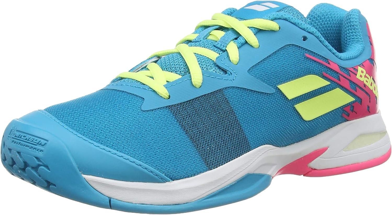 Babolat Junior Jet All Court Tennis Shoes (Capri Breeze/Pink