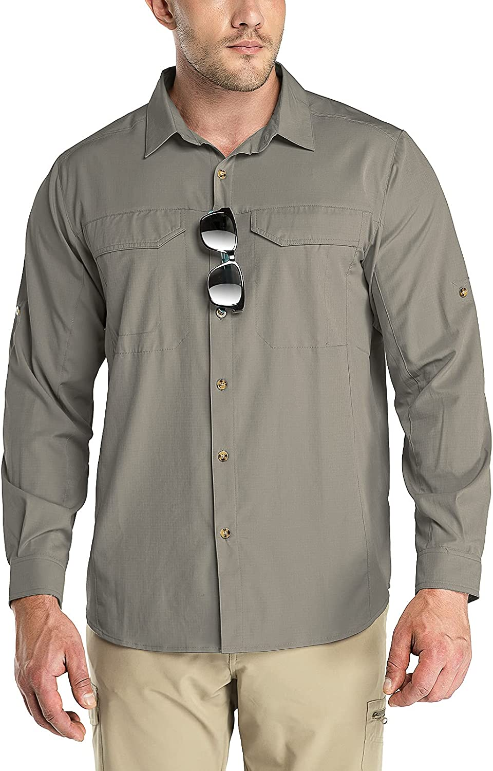 Outdoor Ventures free shipping Men's Long Sleeve Protection Co Lowest price challenge UV Shirt Hiking