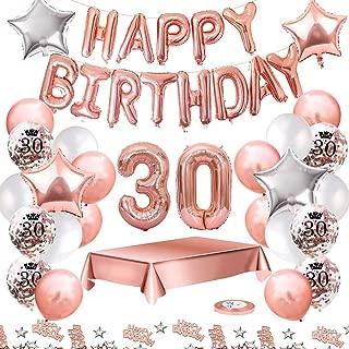 MMTX Globos De Cumpleaños 30 Años Feliz Cumpleaños ...