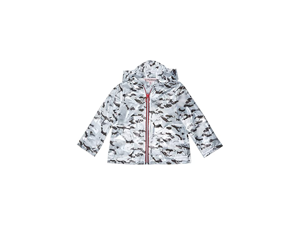 Urban Republic Kids Transparent Raincoat (Little Kids/Big Kids) (Grey Print) Girl