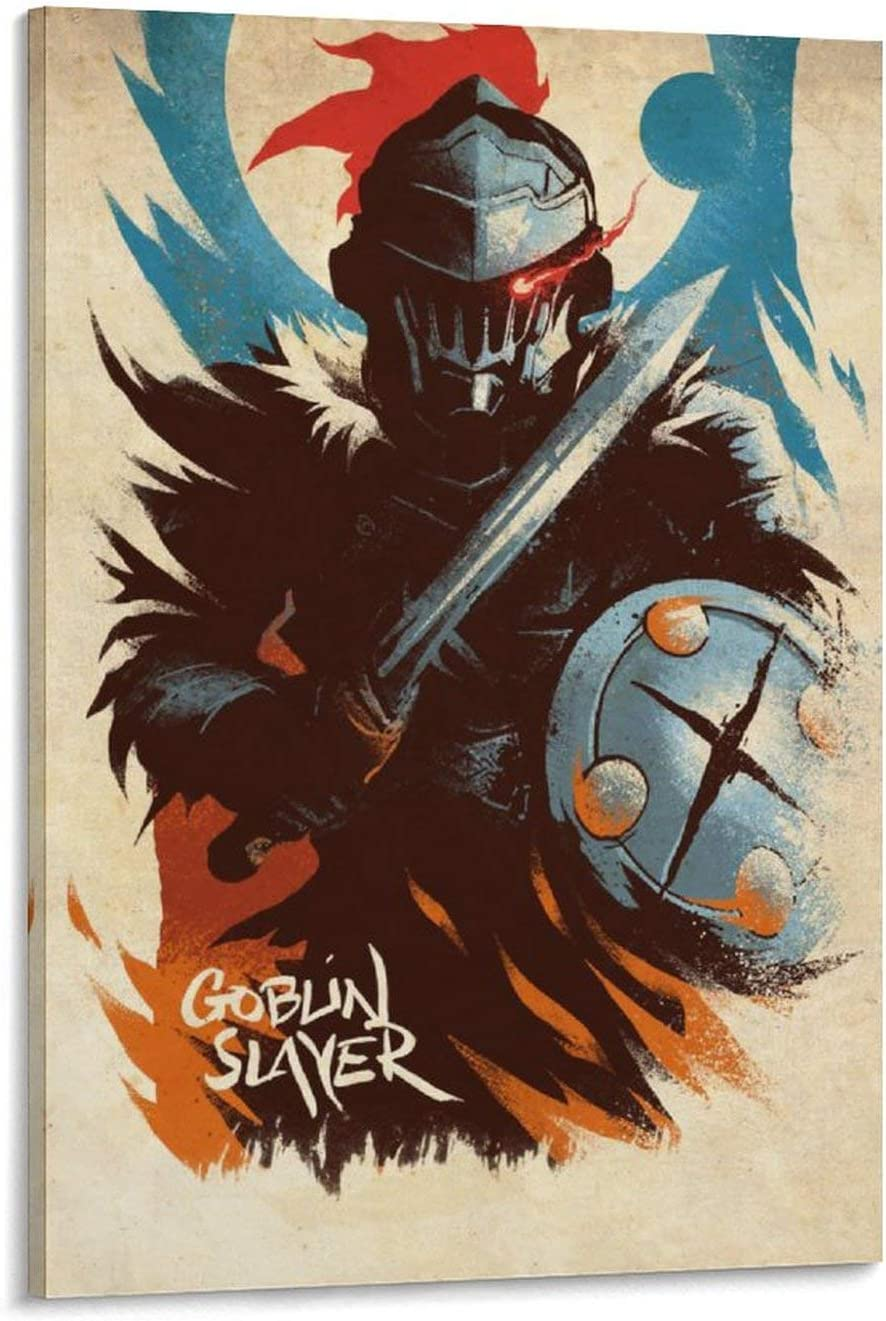Nalahomeqq Anime Goblin Slayer Canvas Spring new work one after another Poster Bedroom Art Decorat Daily bargain sale