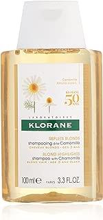 Klorane Shampoo with Chamomile for Blonde Hair, Enhances highlights, brightens blonde hair, Paraben, Hydrogen Peroxide, Ammonia, SLS Free, 3.3 oz.