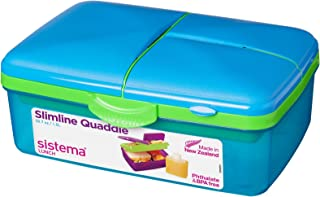 Sistema Lunch Slimline Quaddie, 1.5 L - Blue/Green