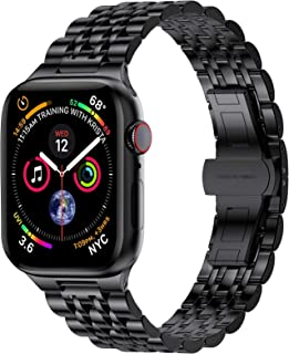 EPULY Compatible with Apple Watch Band 42mm 44mm 38mm 40mm,Business Stainless Steel Metal Wristband for iWatch SE & Series...