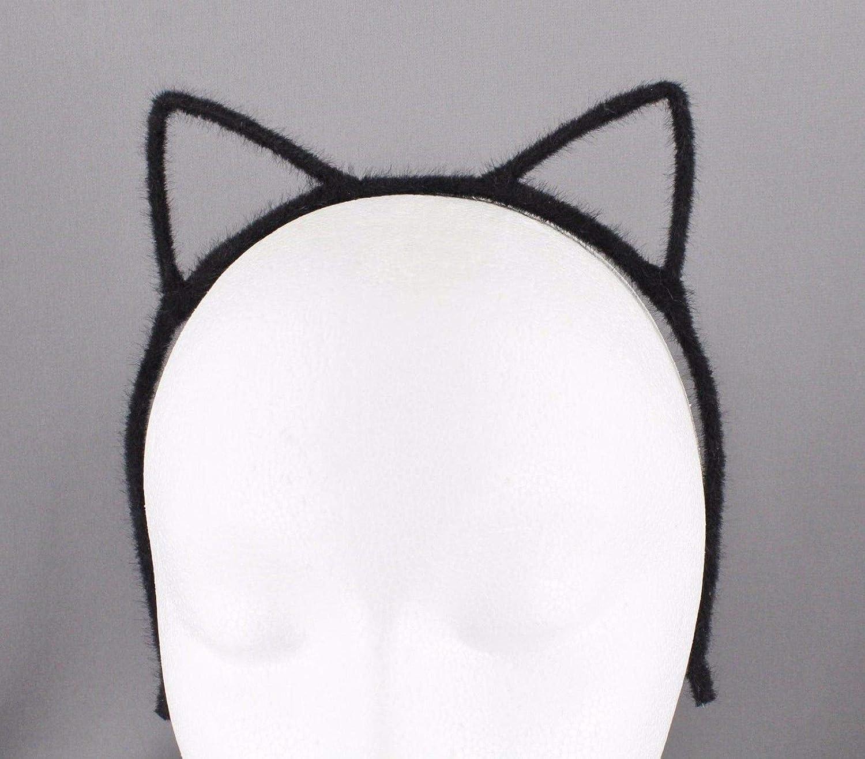 Black Cat Ears Headband Furry Kitten Hair Band Accessory Cosplay Cats Ear Headbands for Women