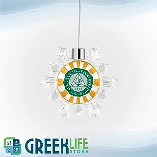 greeklife.store Delta Sigma Phi Snowflake Round Ornament Christmas Decor