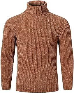 IFOUNDYOU Man Sweaters Cotton Sweaters Turtleneck Uni Sweater Slim Fit Sweaters Basic Man Cotton Sweater Turtleneck Sweate...