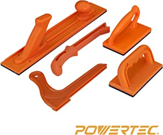 POWERTEC 71009 Safety Push Block and Stick Set | 5 Pack | Ergonomic Handles with Max Grip | Push blocks and Sticks for Table Saw, Jointers and Woodworking | for Woodworker Safety & Control