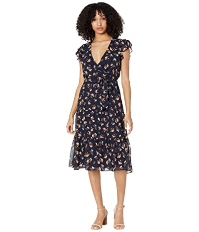 1.STATE Flutter Sleeve Midi Dress