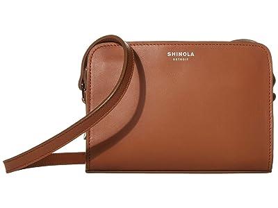 Shinola Detroit Mini Crossbody Nappa (Cognac) Handbags