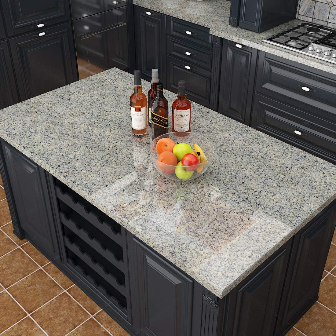 Buy Livelynine Granite Contact Paper for Countertops Waterproof ...