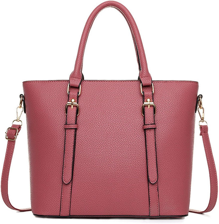 Hynbase Fashion Women Sweet Summer PU Leather Tote Purse Shoulder Handbag