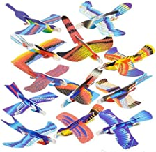 Kicko 7 Inch Foam Bird Glider Kite for Kids - 24 Pieces Flying Colorful Paragliding - Perfect for Outdoor and Open-Air Activities, Game on Summer Vacation, Field Trip, Play Parks, Stocking Stuffers