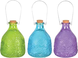 Esschert Design Wasp Trap Hobnail Glass, Large, Assortment of 3 Colors