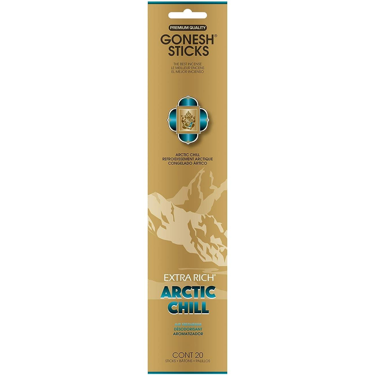 表向き支払い曖昧なGONESH(ガーネッシュ) インセンススティック アドベンチャーコレクション Arctic Chill(ベルガモット?レモン?スパークリングミント?ムスク)