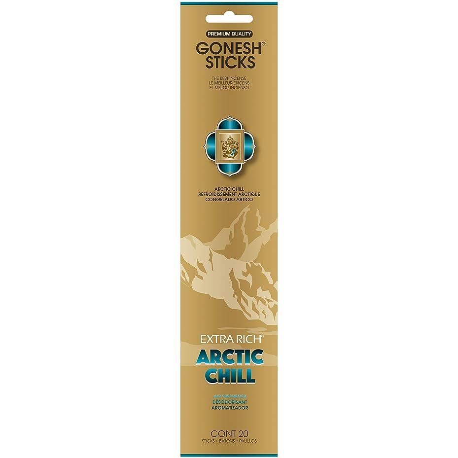 水平電気的不均一GONESH(ガーネッシュ) インセンススティック アドベンチャーコレクション Arctic Chill(ベルガモット?レモン?スパークリングミント?ムスク)
