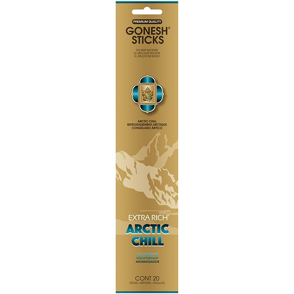 ビル統計的本会議GONESH(ガーネッシュ) インセンススティック アドベンチャーコレクション Arctic Chill(ベルガモット?レモン?スパークリングミント?ムスク)