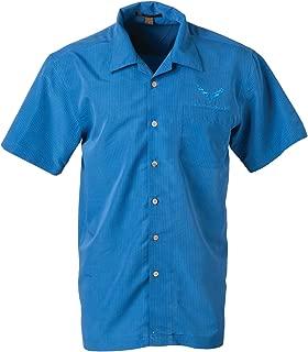 C7 Corvette Men's Blue Mosaic Camp Shirt