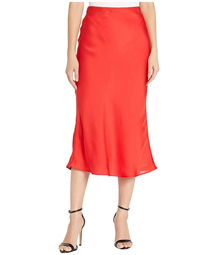 1930s Style Skirts : Midi Skirts, Tea Length, Pleated Sanctuary Everyday Midi Skirt Party Red Womens Skirt $78.95 AT vintagedancer.com