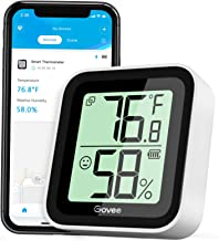 Govee Temperature Humidity Sensor, Mini Bluetooth Hygrometer Thermometer with App Alert & Data Storage, Indoor Digital The...