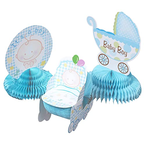 Juvale Baby Shower Decorations - 6 Pieces Boy Theme Baby Shower Table Centerpieces Party Supplies,