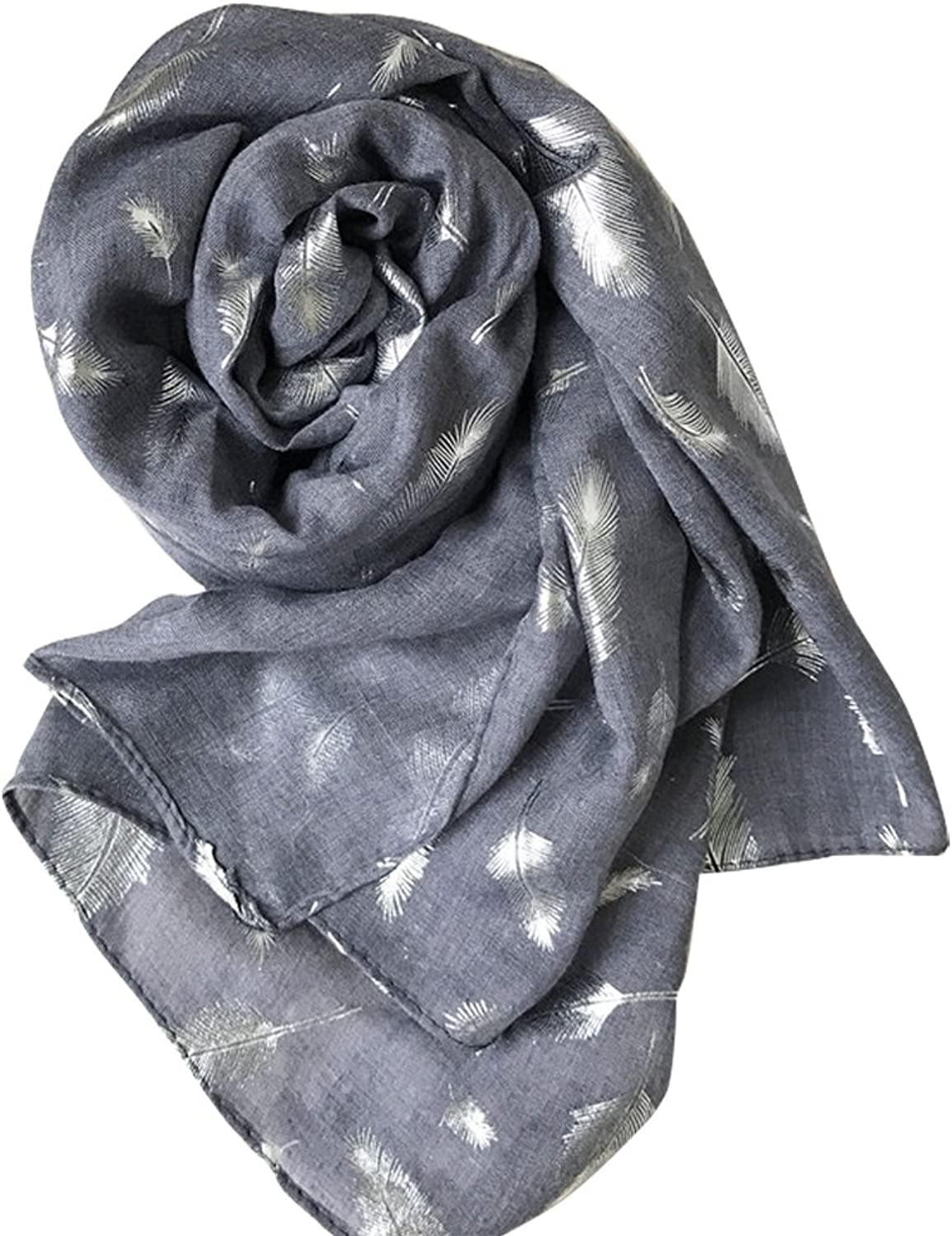 Alice Women Cotton Classy golden Feather Long Scarf Shawls Wraps