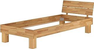 Erst-Holz Lit Simple en hêtre Naturel 90x200 Style Moderne, Structure de lit sans literie 60.80-09oR