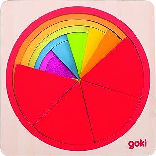 Goki- Puzzle Cercle 21 pièces, 57737, Multicolore