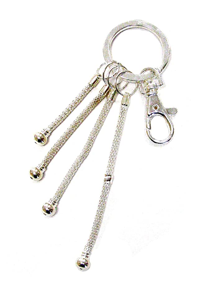 Linpeng, DIY Key chain/Key ring, 4 mesh chains length from 1.5 to 3