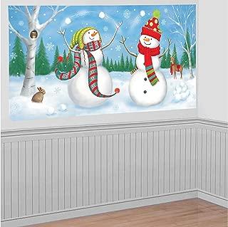 Whimsical Snowman Plastic Scene Setter | Christmas Decoration