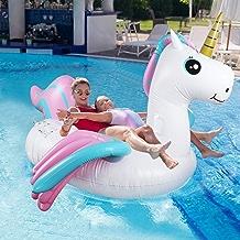 Fixget Giant Inflatable Pool Float Toy (White Unicorn)
