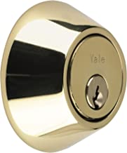 Yale P-5211 Beveiliging Deadbolt, Messing Afwerking, Standaard Beveiliging, Visi Verpakt