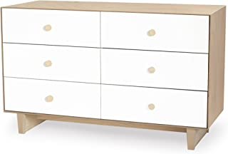 Oeuf Rhea 6 Drawer Dresser, White/Birch