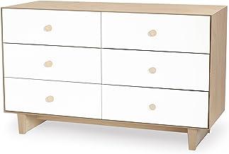 Oeuf Rhea 6 Drawer Dresser, White/Birch