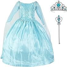 Diseños Candys- Vestido Princesa Elsa Frozen/Disfraz de Princesa Elsa Frozen y Accesorios para niña