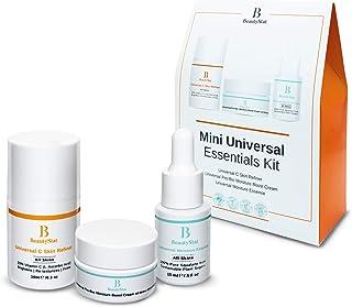 BeautyStat Mini Universal Essentials Skin Care Kit - 3 in 1: Universal C Skin Refiner + Universal Pro Bio Moisture Boost Cream + Universal Moisture Essence | Created by a Veteran Cosmetic Chemist