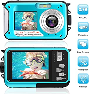 Waterproof Digital Camera Full HD 2.7K 48 MP Underwater...