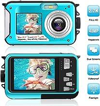 $79 » Waterproof Digital Camera Full HD 2.7K 48 MP Underwater Camera Video Recorder Selfie Dual Screens 16X Digital Zoom Flashlight Waterproof Camera for Snorkeling