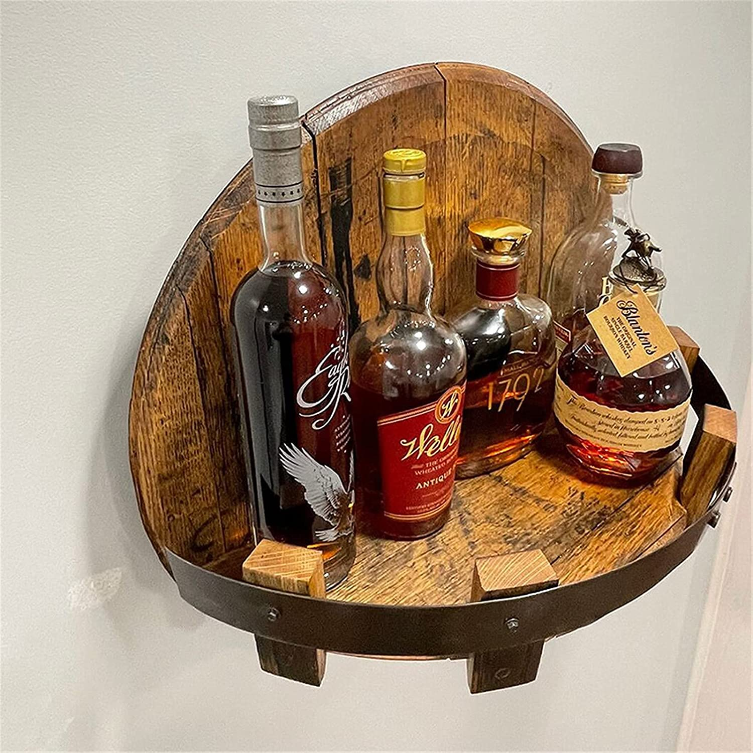 VCBMRT Hand Super Free shipping / New beauty product restock quality top Crafted Liquor Bottle Rack Wine Mounted Display-Wall