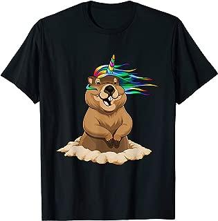 GroundHog Day Unicorn T-Shirt Sports Gift Shadow Men Women