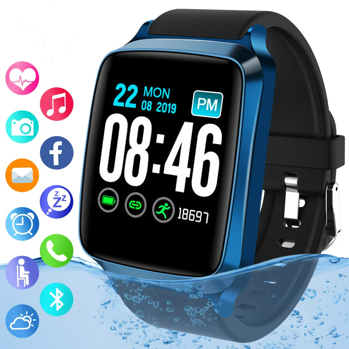 Bluetooth Smartwatch Waterproof Activity Wristband