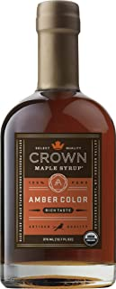 Crown Maple Organic Grade A Maple Syrup, Amber, 12.7 Fl. Oz (Pack of 1)