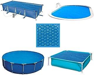 Linxor France ® Bâche à bulles ronde, ovale, carrée ou rectangle 180 microns pour piscine intex ou autre. / 29 tailles dip...