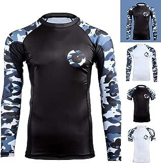 Gold BJJ Jiu Jitsu Rashguard - Camo Rash Guard Compression Shirt for No-Gi, Gi, MMA (Long Sleeve & Short Sleeve Available)