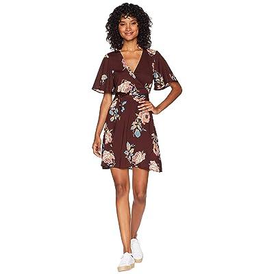Show Me Your Mumu Andrea Wrap Dress (Chocolate/Roses Drape) Women