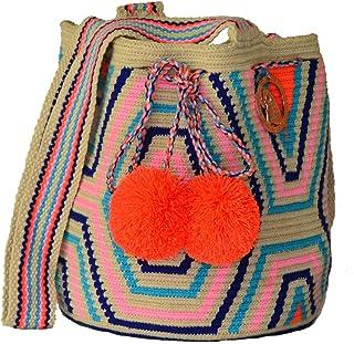 Authentic Wayuu Mochila Bag by Guacamaya Tribal | Colombian Handmade, Una Hebra, Single Stitch