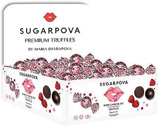 Sugarpova Dark Chocolate Raspberry Truffle, 50 Individually Wrapped, Countertop Display
