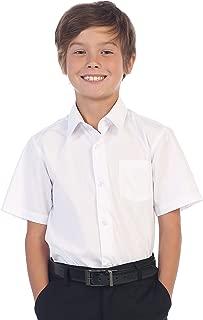 Boy's Short Sleeve Solid Dress Shirt