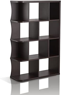 amazon com monarch specialties dark taupe reclaimed look bookcase rh amazon com Fireplace Bookshelves Bookshelves with Drawers